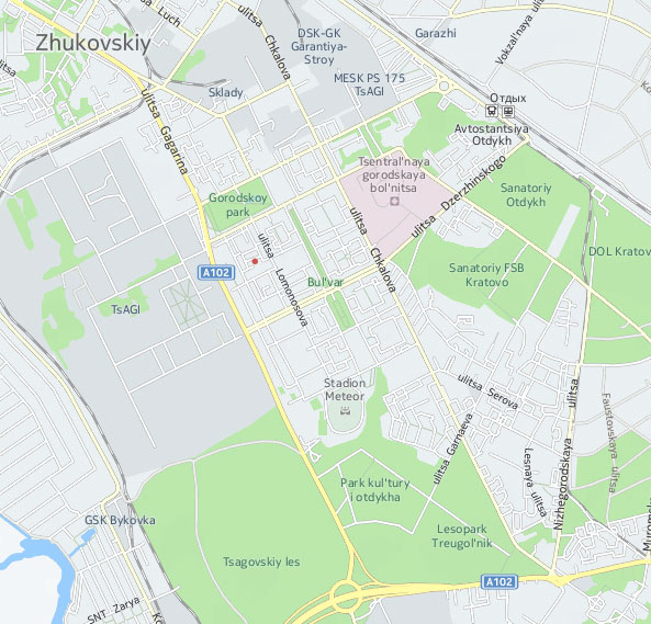 Location Of NIK Ltd Scientific And Engineering Company - Zhukovsky map